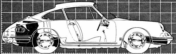 FILTRE plan profil porsche-911-1965
