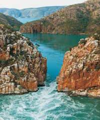 Aerial view of Horizontal Water Falls Kimberley Tours Flights