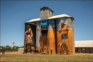 silo art on NSW Outback Warrumbungles Silo Art Corner Country Mungo Broken Hill Tour 14 days