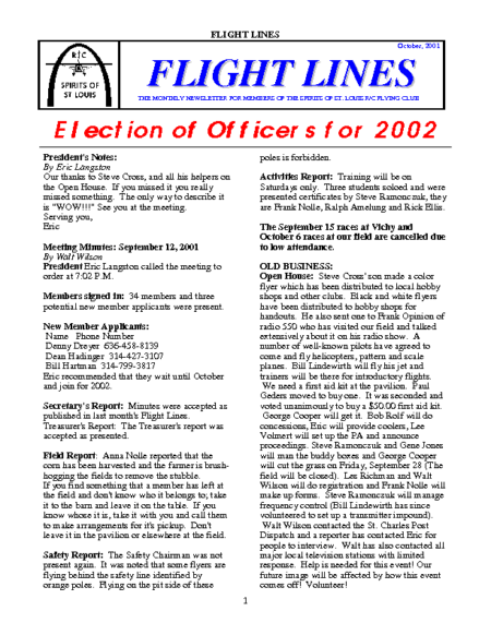 Flight Lines (October-2001)