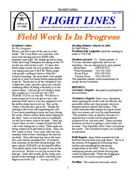 Flight Lines (April-2001)