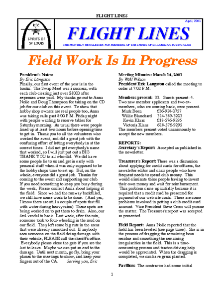 Flight Lines (April-2001)