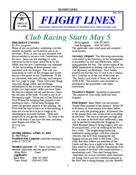 Flight Lines (May-2001)