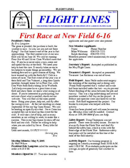 Flight Lines (June-2001)