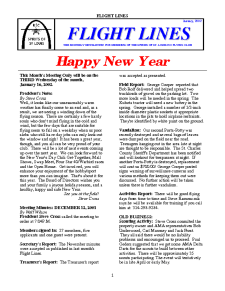 Flight Lines (January-2002)