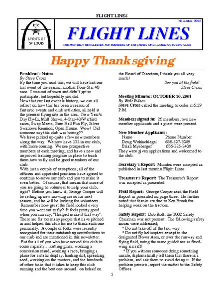 Flight Lines (November-2002)