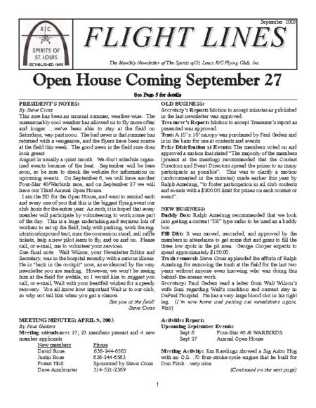Flight Lines (September-2003)