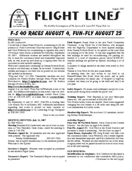 Flight Lines (August-2007)