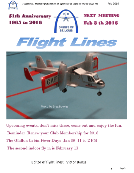 Flight Lines (February-2016)