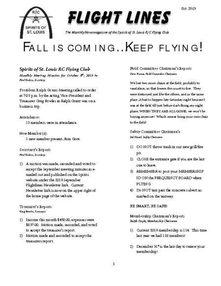 Flight Lines (October-2019)