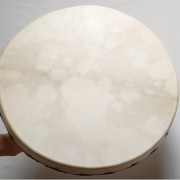 Rahmentrommel Moon Drum, weisses Naturfell matt