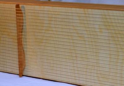 Monochord Decke aus Birke