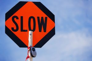 SLOW DOWN right away. It's good for your health