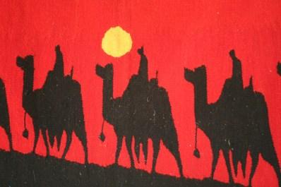market tapestry, Egypt