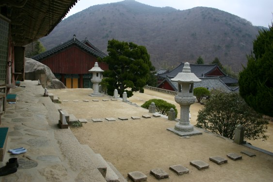 Buddhist temple courtyard