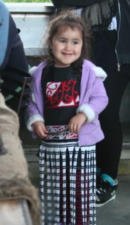 Maori girl smiling