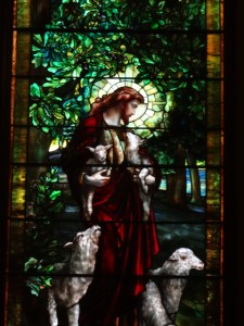 Jesus tending (but not counting) his sheep. (Photo by Lori Erickson)