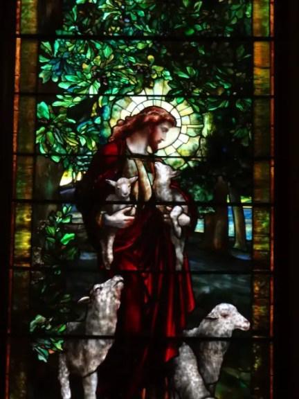 Tiffany window of the Good Shepherd