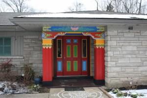 Entrance to the Drepung Gomang Institute in Louisville, Kentucky (Lori Erickson photo)