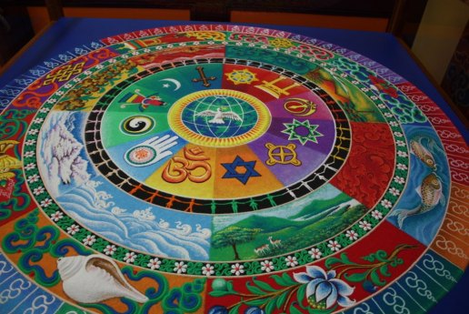 Sand mandala at DGI in Louisville (Lori Erickson photo)