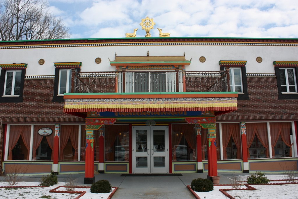 front door of Buddhist monastery