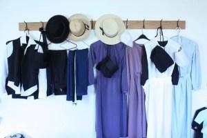 Display of Amish clothing at the Menno-Hof in Shipshewana, Indiana (Bob Sessions photo)
