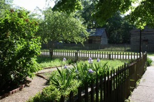 The historic district of New Harmony has beautiful gardens (Bob Sessions photo).