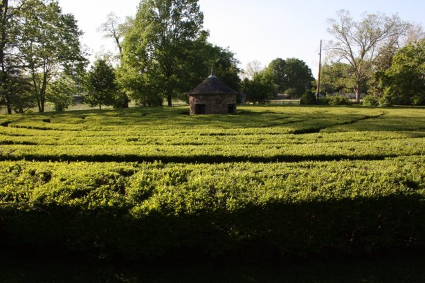 This labyrinth is based on a design of the original New Harmony settlers. (Bob Sessions photo)
