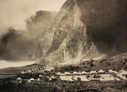 The leper colony on Molokai Island (photo from Father Damien shrine)