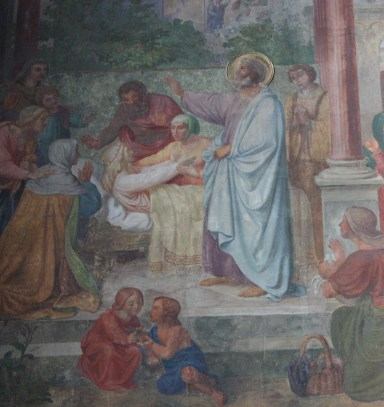 The frescoes at St. Apollinaris were created by artists in the Nazarene tradition. (Bob Sessions photo)