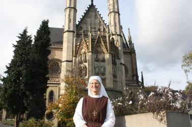 Sister Catharina gave us a warm welcome to St. Apollinaris Church. (Bob Sessions photo)