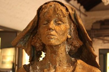 Statue of Hildegard in Bingen's Museum am Strom (Bob Sessions photo)