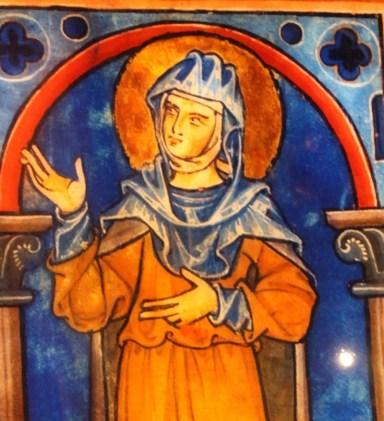 An image of Hildegard from St. Rochus Chapel in Bingen (Bob Sessions photo)