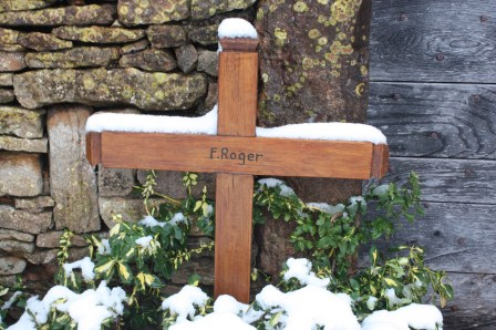 Brother Roger, the founder of the Taizé Community, is buried outside the village's small stone church. (Bob Sessions photo)