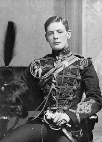 Churchill joined the military in part because his academic record was not good enough to get him into university.