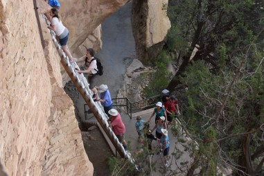 Mesa Verde's Balcony House is reached by a steep ladder (Bob Sessions photo)