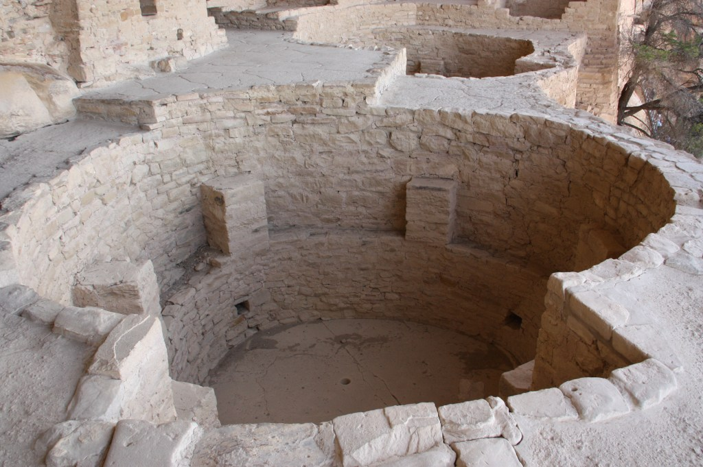 two kivas, kiva archeological site