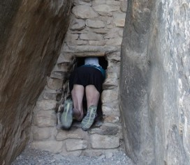 This tiny passageway is the original entrance to Balcony House at Mesa Verde (Bob Sessions photo)
