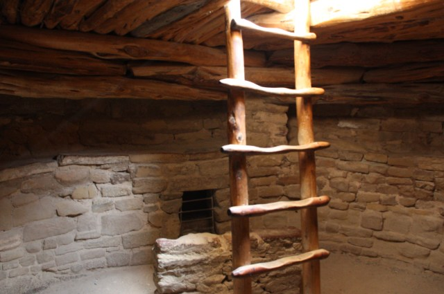 At Mesa Verde National Park, a ceremonial kiva has been reconstructed at Spruce Tree House (Bob Sessions photo)