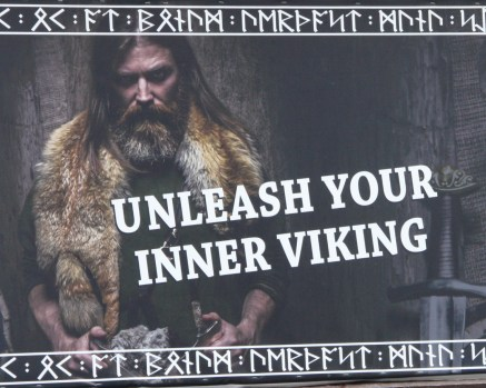 Unleash your inner Viking sign, Viking poster, Viking warrior