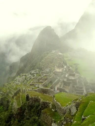 Machu Picchu in clouds
