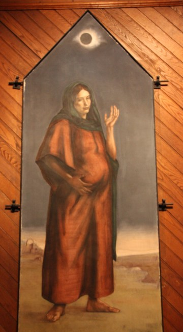 """Mary Great With Child"" portrays a very pregnant Mary. (photo by Bob Sessions)"