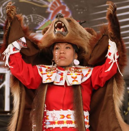 As Laura Grizzlypaws dances, she embodies the beauty and strength of the bear. (Bob Sessions photo)