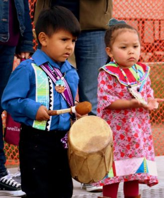 The Gathering of Nations helps children learn their cultural traditions. (Bob Sessions photo)