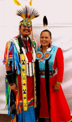 Beautifully crafted costumes are worn by many people at the Gathering of Nations. (Bob Sessions photo)