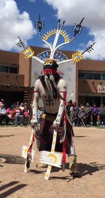 A White Mountain Apache Crown Dancer (Bob Sessions photo)