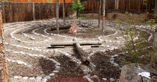 The Center for Action and Contemplation includes a labyrinth for meditation. (Bob Sessions photo)