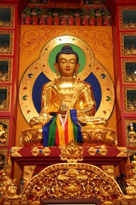 A golden Buddha at Crestone's Vajra Vidra Retreat Center (Lori Erickson photo)