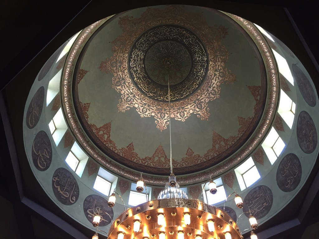 Interior of American mosque
