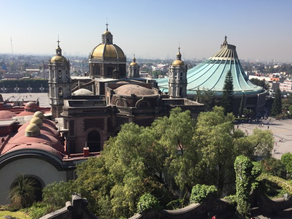 View overlooking the Shrine of Our Lady of Guadalupe in Mexico City
